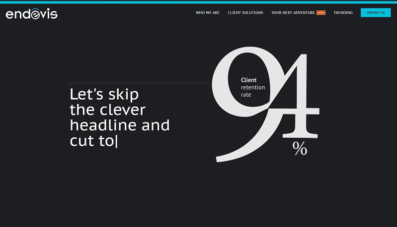 endevis website screenshot