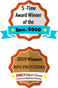 Inc. 5000 and HRO Baker's Dozen Award badges